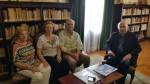 El Economato Resurgir, con D. José Villaplana, Obispo de Huelva
