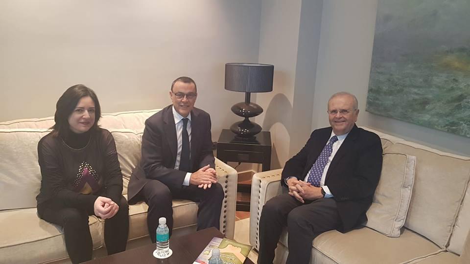Reunión con con el presidente de la Diputación y la diputada de Servicios Sociales