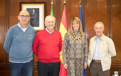Con la Presidenta de la Autoridad Portuaria de Huelva