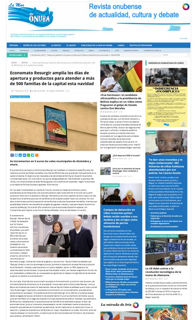 Economato Resurgir amplia los días de apertura y productos para atender a más de 500 familias de la c[...]