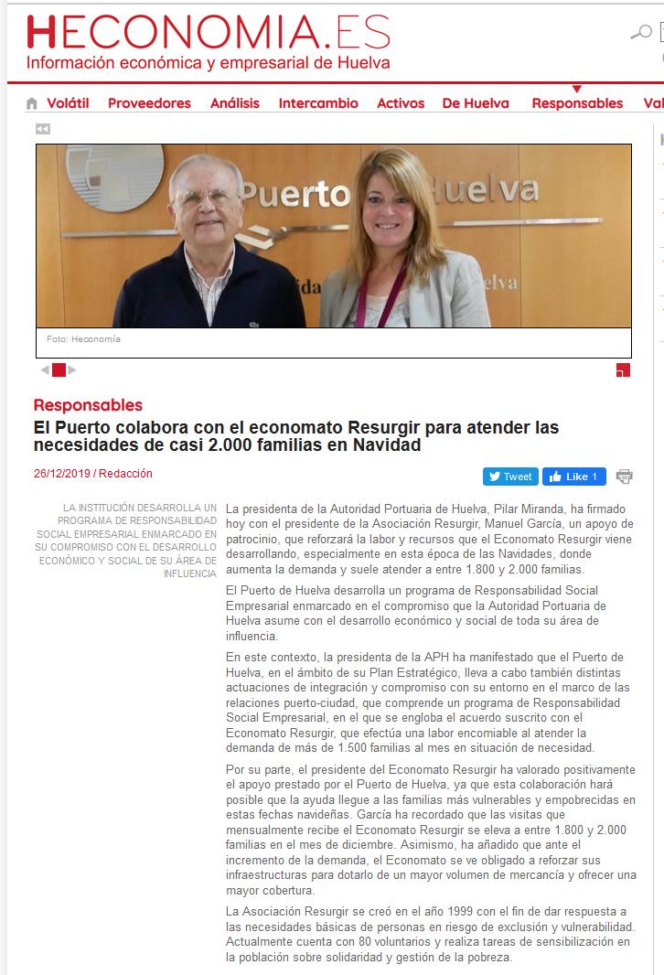 El Puerto colabora con el economato Resurgir para atender las necesidades de casi 2 000 familias en N[...]