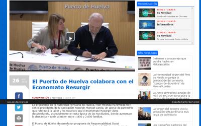 El Puerto de Huelva colabora con el Economato Resurgir