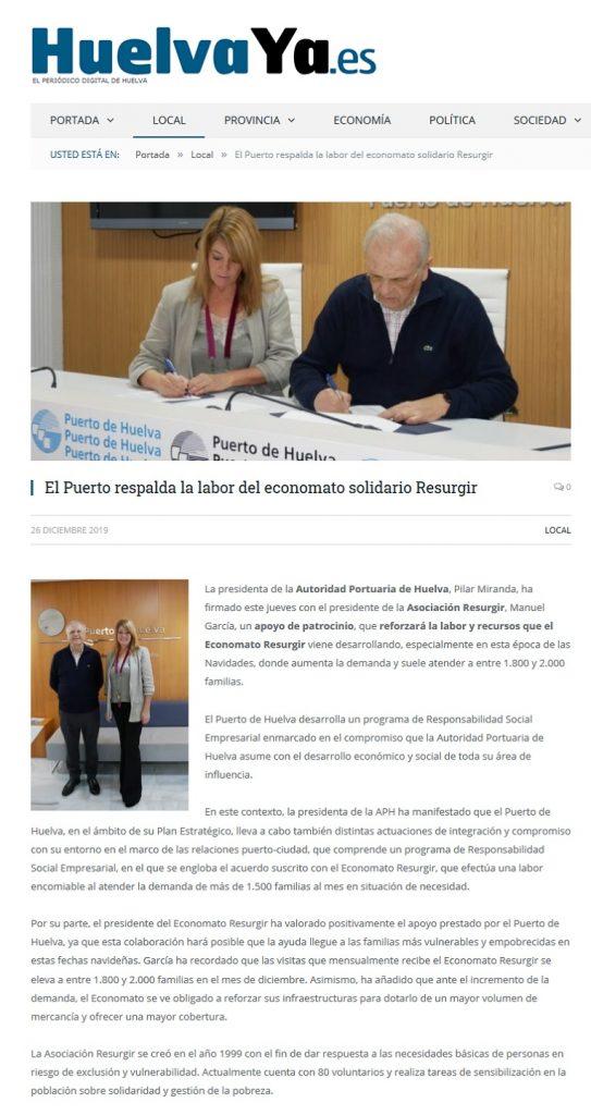 El Puerto respalda la labor del economato solidario Resurgir