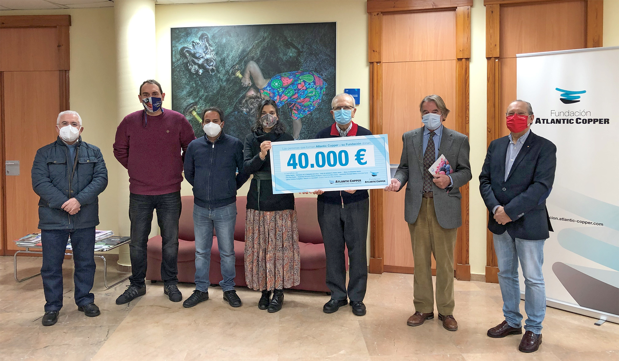 Cheque Solidario Fundacion Atlantic Cooper